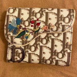 Authentic Dior romantique saddle wallet